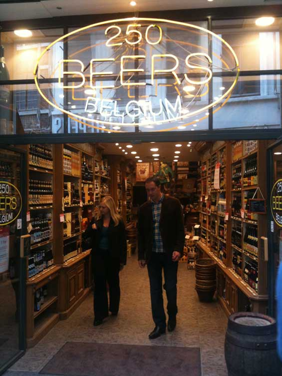 Brussels Belgium Beer Shop