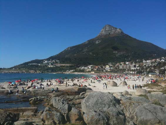 Camps Bay Beach and Lion's head, Cape Town