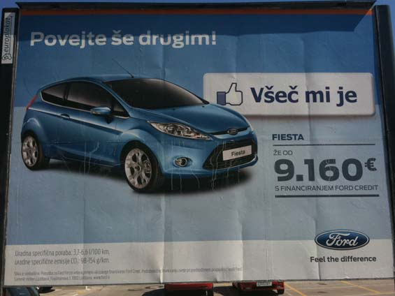 Ford Fiesta Facebook Poster