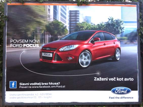 Ford Focus Facebook Poster