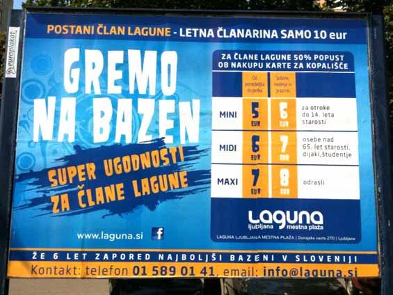 Laguna Mestna plaža Facebook Poster