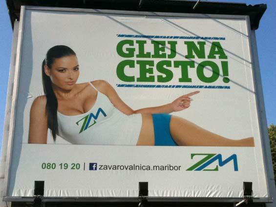 Zavarovalnica Maribor, Glej na cesto Facebook Poster