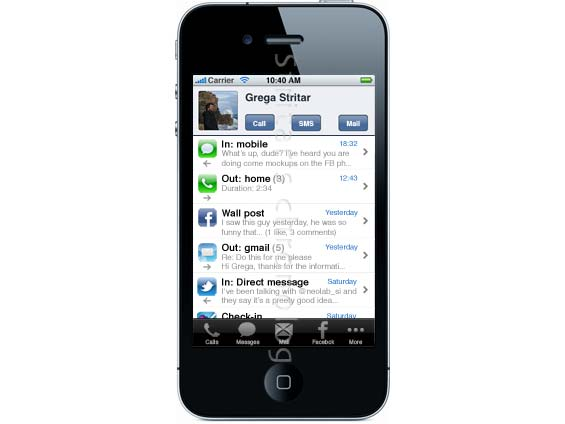 Facebook Phone, User Stream