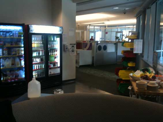 Googleplex cafeteria and chill-out zone