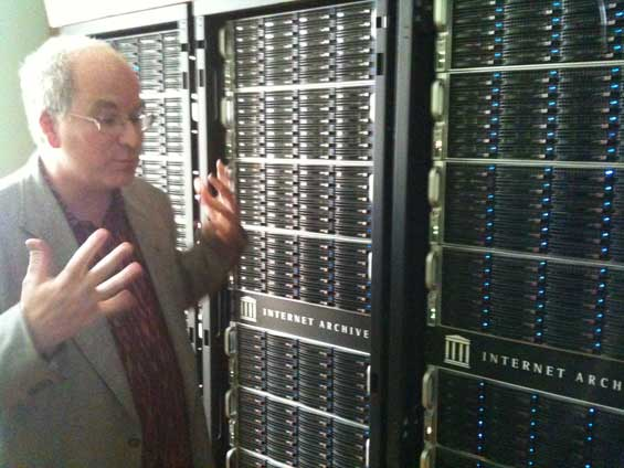 Internet Archive Server Racks Brewster Kahle