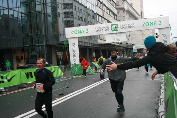 The Ljubljana Marathon Finish Line