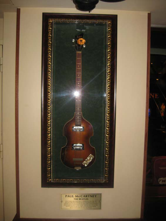 Hard Rock Cafe Paul McCartney's Bass Guitar