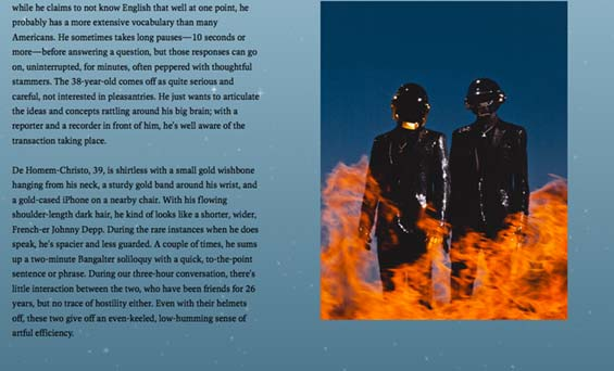 Pitchfork Daft Punk Cover Story Parallax Scrolling Transition 1