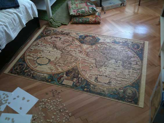 Jigsaw Puzzle Almost Complete
