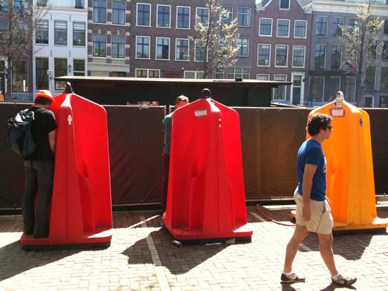 Queensday Amsterdam Public Urinal