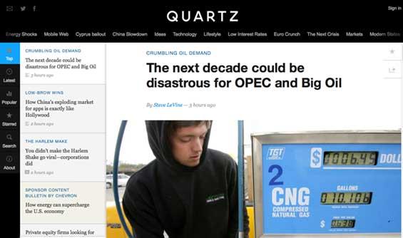 Quartz Homepage