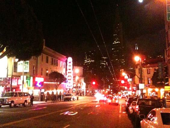 San Francisco Streets Little Italy Transamerica Pyramid