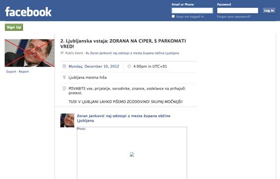 Facebook protest Zoran Janković