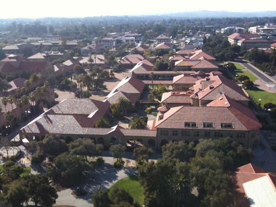 Stanford University View From Hoover Tower