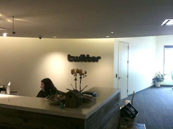 Visiting Twitter headquarters, San Franscisco