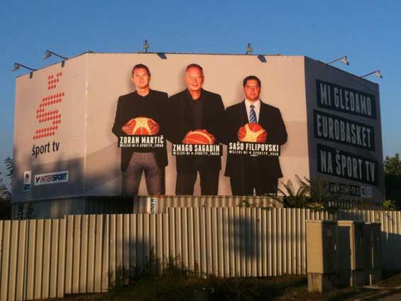Šport TV Twitter Billboard Eurobasket
