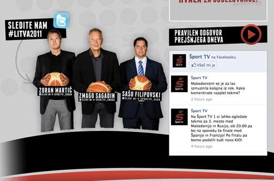 Šport TV Twitter Website Eurobasket